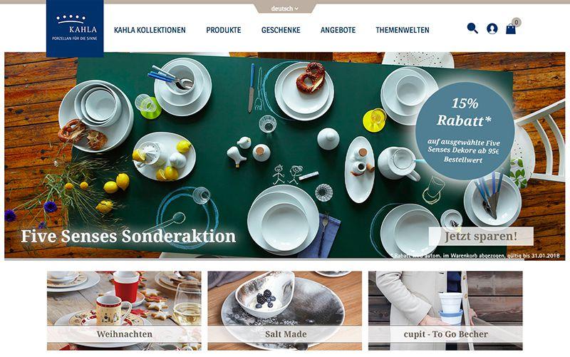 constancy GmbH–KAHLA Porzellanshop Startseite